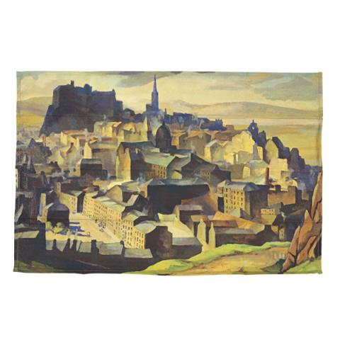Edinburgh (from Salisbury Crags) William Crozier Tea Towel