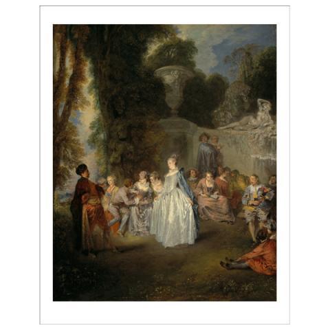 Fetes Venitiennes Jean-Antoine Watteau Art Print
