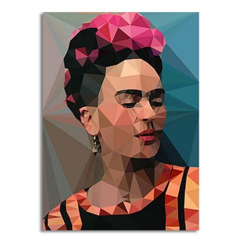 Geometric Frida Kahlo greeting card