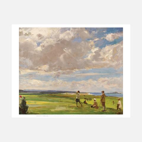 The Golf Links Sir John Lavery Mini Print