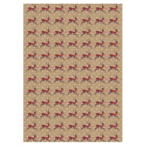Christmas Deer Gift Wrap Sheet
