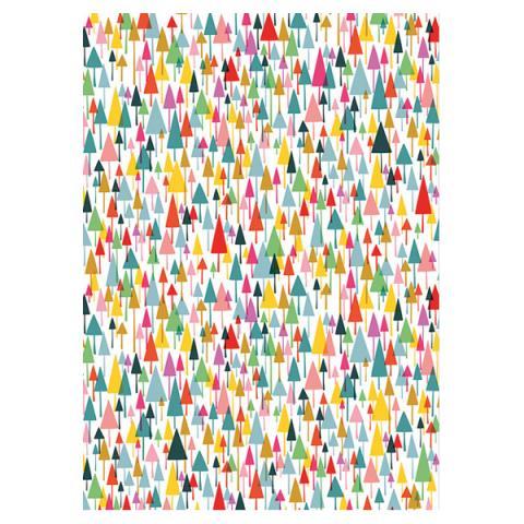 Christmas Trees Gift Wrap Sheet