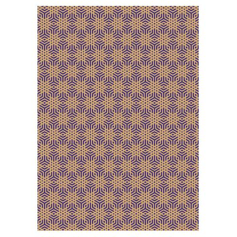 Gold Blue Gift Wrap Sheet