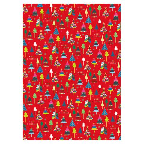 Merry Christmas Gift Wrap Sheet