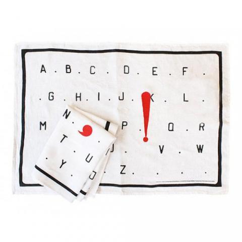 L'Alphabet Marcel Broodthaers Tea Towel