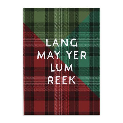 Lang may yer lum reek tartan greeting card