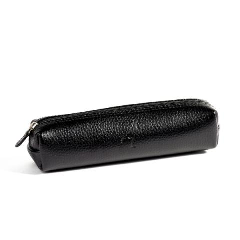 Leather Rectangular Pencil Case Black