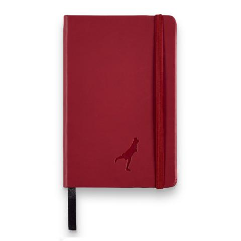 Leather A6 red notebook