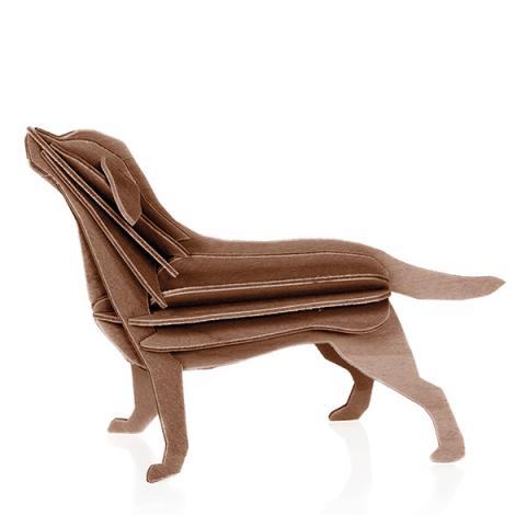 Brown Labrador dog wooden flat pack construction kit (15cm)