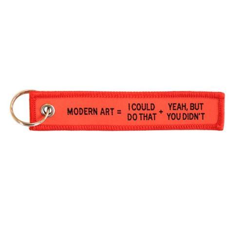 Modern Art by Craig Damrauer fabric keyring