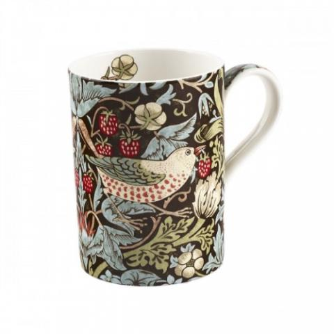 Royal Worcester Morris and Co Pimpernel Strawberry Thief Chocolate Slate Mug