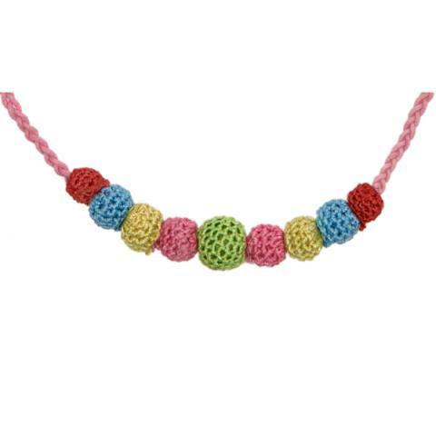 Crochet Necklace Light Pink Strand