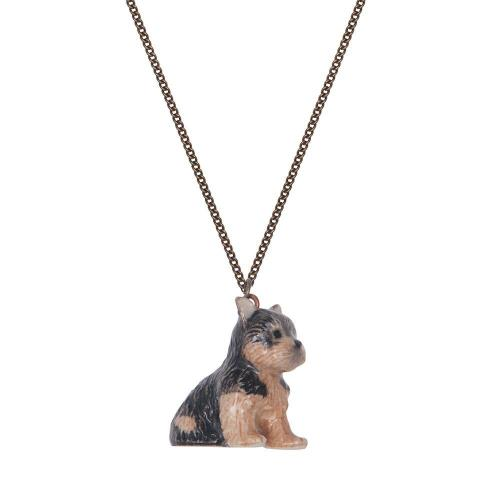 And Mary Tiny Yorkie Puppie Necklace