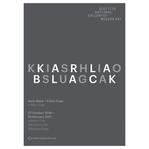 Karla Black and Kishio Suga Exhibition Grey Poster