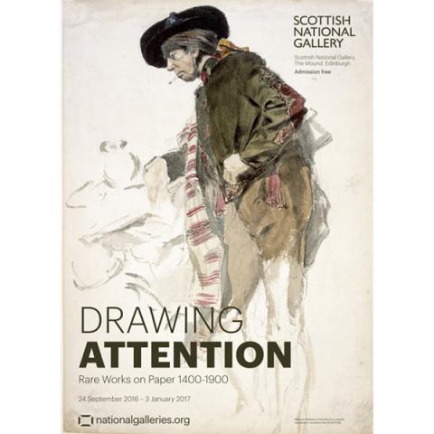 Drawing Attention Exhibition Poster