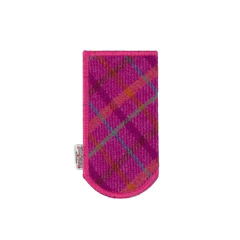 Clare O'Neill Glasses Case Pink Harris Tweed