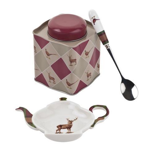 Pimpernel glen lodge 3 piece tea caddy gift set