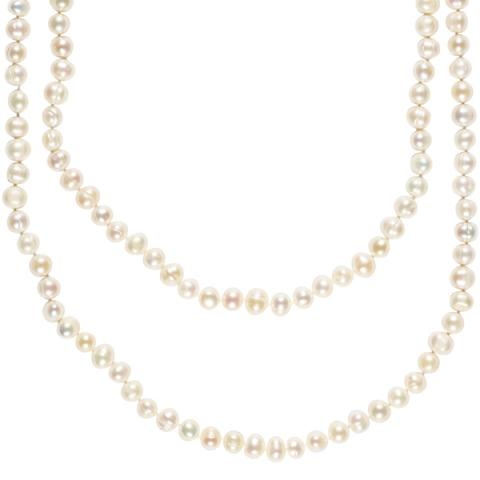 The Real Pearl White Pearl Necklace