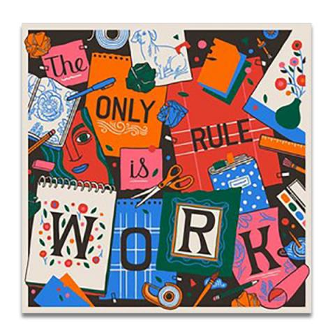 The only rule is work greeting card