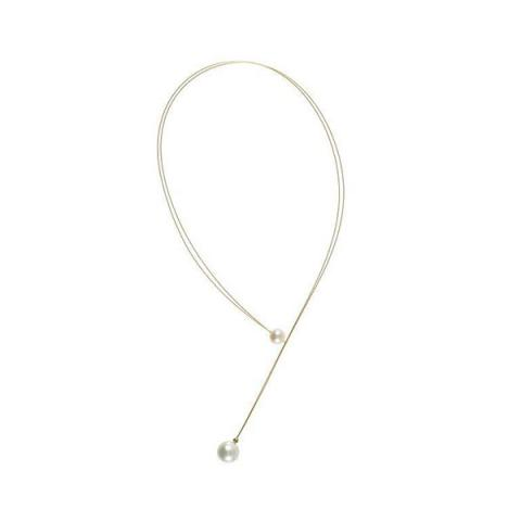 Japanese gold coated necklet with edison end pearl