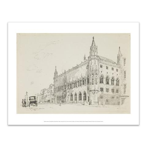 Scottish National Portrait Gallery; exterior view by Thomas Crawford Hamilton art print