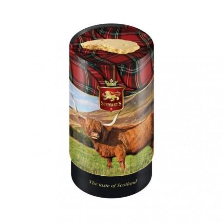 Stewart's Scotland Highland Cow tube filled with luxury shortbread (150g)