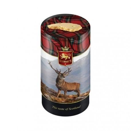 Stewart's Scotland stag tube filled with luxury shortbread (150g)