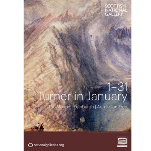 Turner in January Exhibition Poster