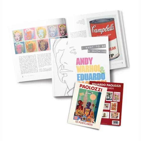 Warhol & Paolozzi Exhibition Book + Paolozzi Postcard Pack Special Offer