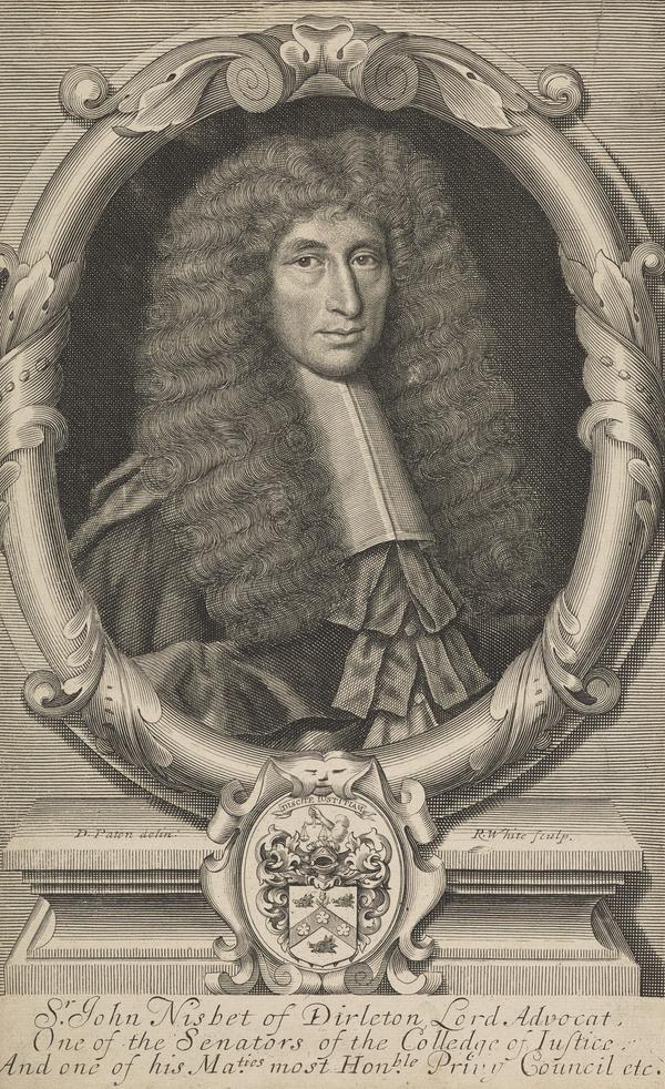 Sir John Nisbet of Dirleton, c 1609 - 1687. Lord Advocate and Judge