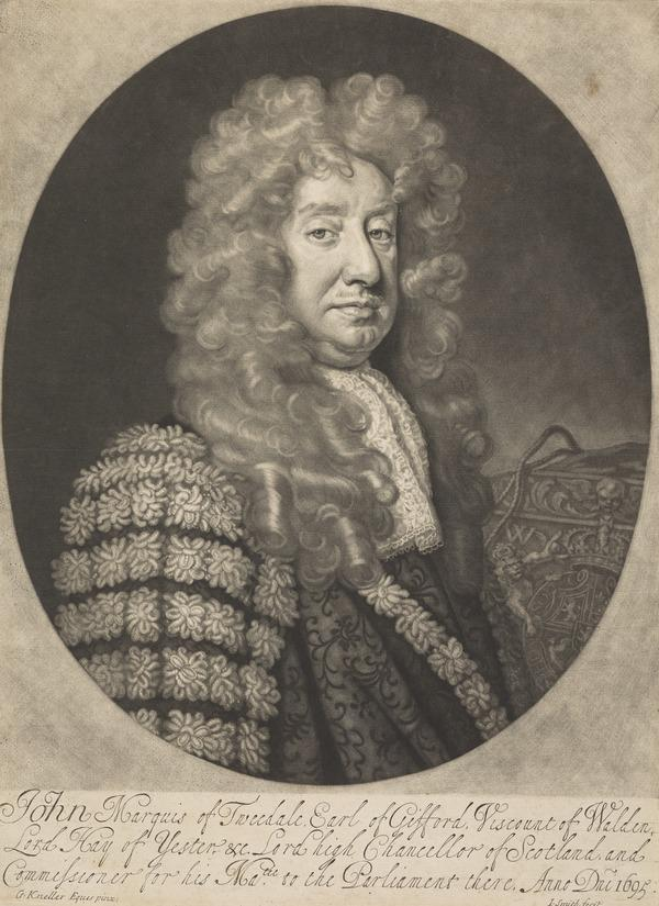 John Hay, 1st Marquis of Tweeddale, 1626 - 1697. Lord High Chancellor of Scotland