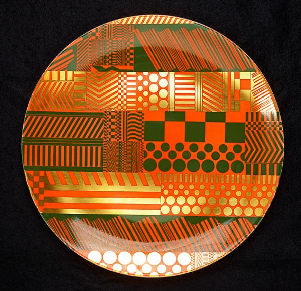 Plate (from the 'Variations on a Geometric Theme' series of 6 plates)