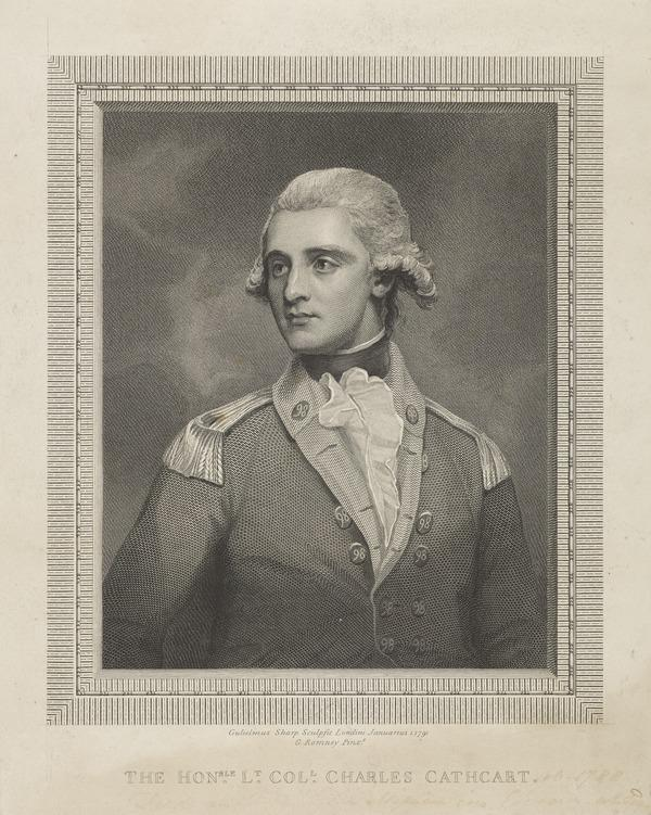 The Honourable Charles Allan Cathcart, 1759 - 1788. Brother of the 1st Earl Cathcart (1791)