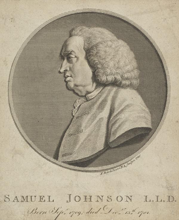 Samuel Johnston, 1709 - 1784. Lexicographer (1785)