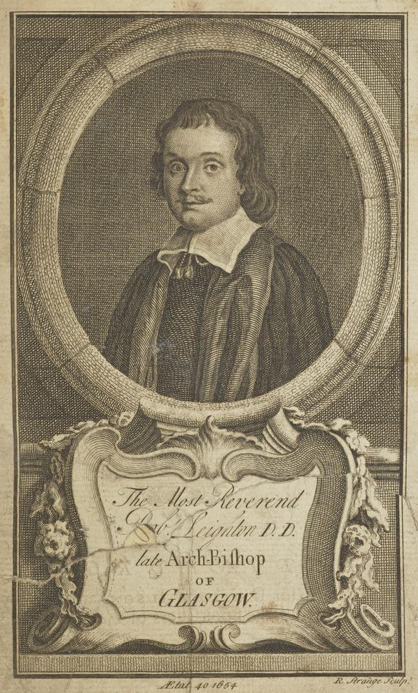 Reverend Robert Leighton, 1611 - 1684. Archbishop of Glasgow