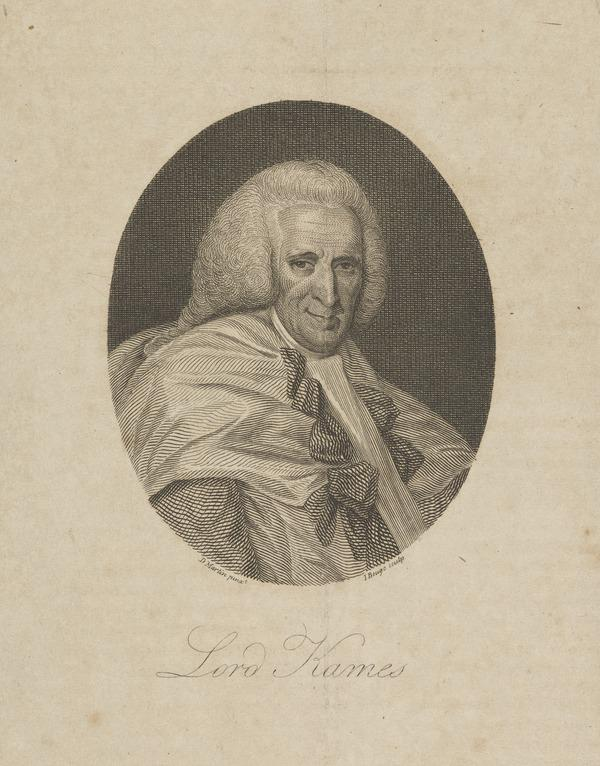 Henry Home, Lord Kames, 1696 - 1782. Scottish judge: legal and philosophical author