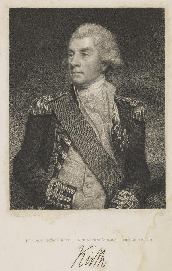 Lord George Keith Elphinstone, Admiral Lord Keith,1746 - 1823. [reverse: Sir James Wellwood Moncrieff]