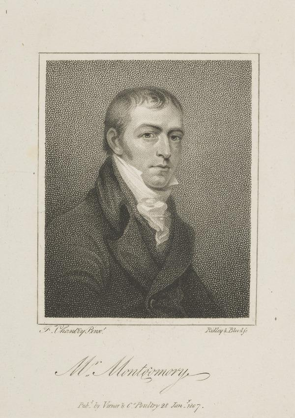 James Montgomery, 1771 - 1854. Poet and political campaigner, Sheffield (Published 1807)