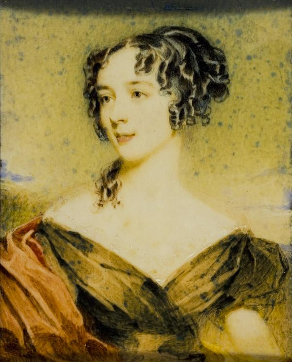 Jane Baillie Welsh, Mrs Thomas Carlyle, 1801 - 1866. Wife of the historian Thomas Carlyle (1826)