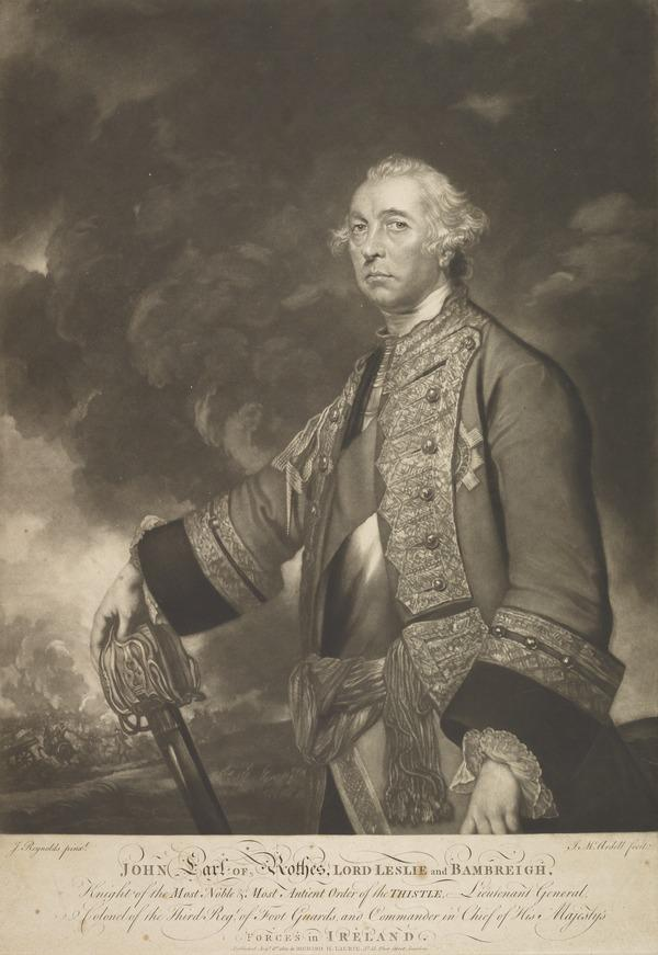 John Leslie , 10th Earl of Rothes, c 1698 - 1767. General (Published 1821)