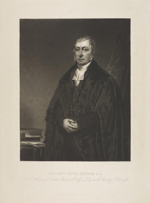 Rev. David Ritchie. Professor of Logic, Edinburgh University