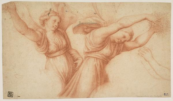 Two Winged Figures (after Raphael)