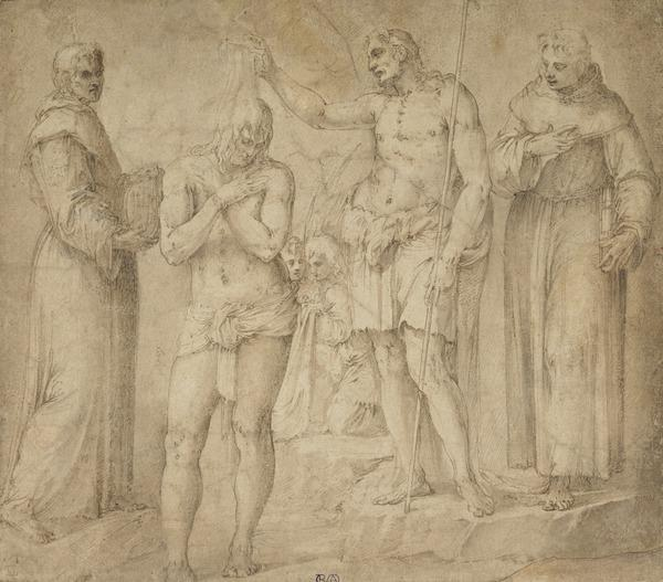 The Baptism of Christ with Saints Bernardino of Siena and Francis (1552 - 1554)
