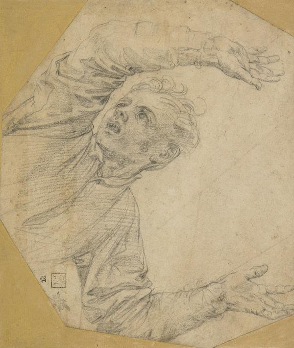 A Boy with Upraised Hands: Study for the Young Spectator in the 'Martyrdom of St Lawrence' (late 1550s)