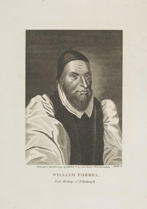 Bishop William Forbes, 1585 - 1634. First Protestant Bishop of Edinburgh (Published 1795)