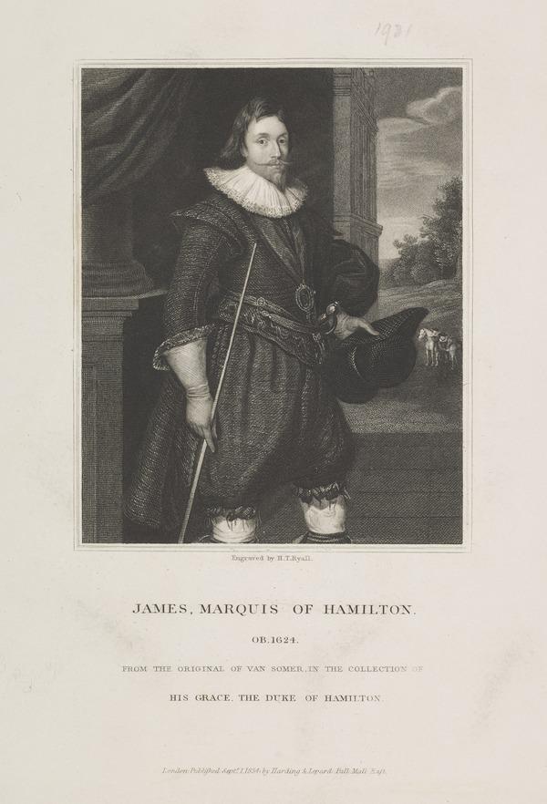 James Hamilton, 2nd Marquess of Hamilton, 1589 - 1625. Statesman (Published 1834)
