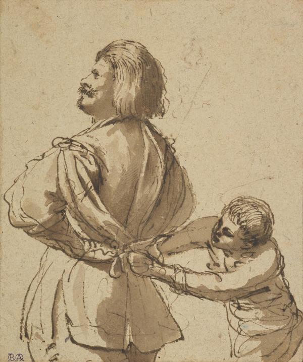 A Boy Helping his Master to Dress (About 1620 - 1625)