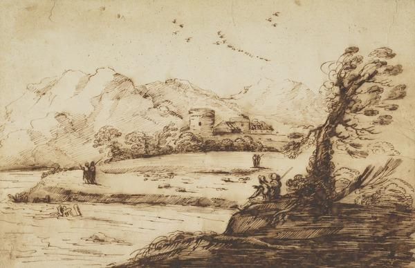 River Landscape with Herdsmen