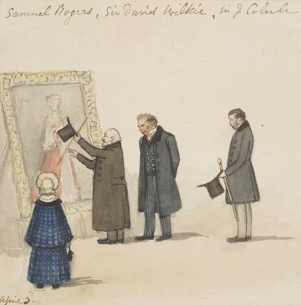 Sir David Wilkie, Samuel Rogers and Sir James William Colville inspecting a portrait (About 1840)