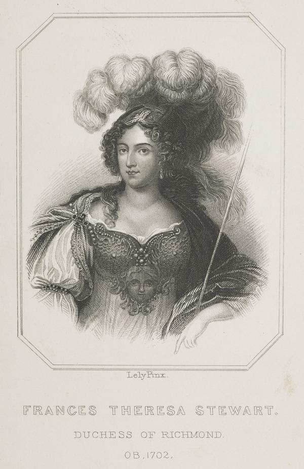 Frances Teresa Stuart, Duchess of Richmond and Lennox, 1648 - 1702. Mistress of Charles II